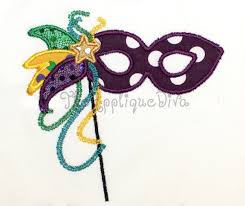 where can i buy mardi gras masks mardi gras mask embroidery design machine applique