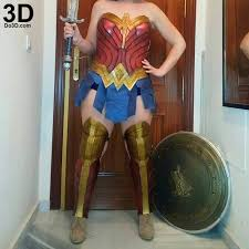 3d printable model woman body armor batman
