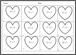 classroom freebies valentine math with single digit by two digit
