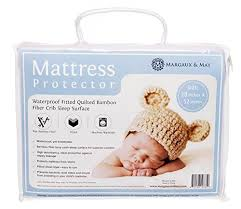 Crib Mattress Protector Pad Bamboo Crib Mattress Protector Pad Waterproof Fitted Quilted