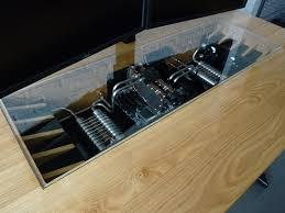 bureau pc intégré un magnifique ordinateur intégré dans un bureau sur mesure niko