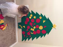 felt christmas tree easy cheap toddler diy