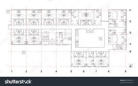 hotel floor plan stock vector 49698013 shutterstock