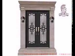 wrought iron shop entry door installation