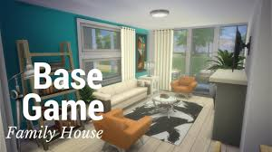 the sims 4 speed build base game family house part 2 youtube