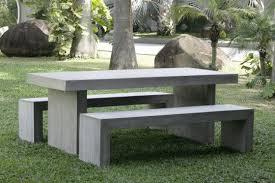 impressive concrete outdoor table diy trestle table concrete slab