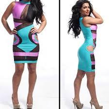 club clothes women slim fit mesh bodycon bandage dress hot cocktail