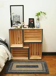 bedroom diy turn old crates into a functional nightstand diy