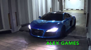 audi r8 chrome blue malaysian chrome blue audi r8 v8 w kreisegg exhaust parking youtube