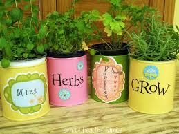 home decor tin can herb container gardens jpg