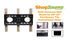 Wall Mount 32 Flat Screen Tv How To Hang Tv Wall Mount On Wall With Studs Youtube