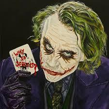 heath ledger the joker painting by david peninger
