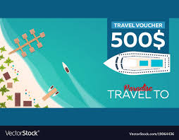 travel voucher images Travel voucher travel to paradise flat royalty free vector jpg