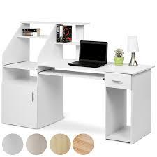 Schreibtisch Ausfahrbar Schreibtisch Bürotisch Mit Ausfahrbarer Tastaturablage Und Vielen