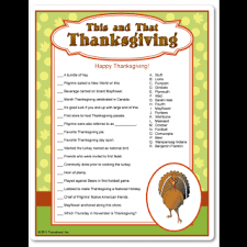 thanksgiving trivia for 10 or adults who want something