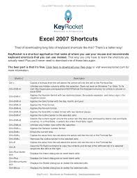 excel 2007 shortcuts