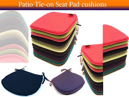 Tie On Chair Cushions Best Bedding Just You Like Plain Kitchen Coloured Dining Room