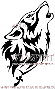 here u0027s u0027s completed tattoo commission of a tribal flame wolf