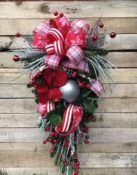 teardrop swag wreath door swag