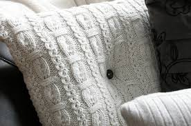 Upcycled Pillows - cold weather decor upcycled jumpers to cushions diy project