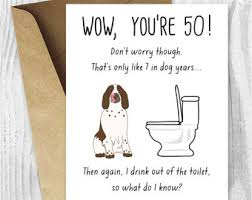 50th Birthday Cards For Card Invitation Design Ideas Birthday Cards For Dogsfunny