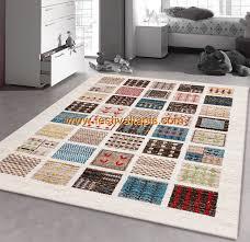 maison du tapis tapis design polypropylène soft multicolore modern beige berber 8
