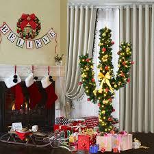 5 u0027 6 u0027 7 u0027 artificial cactus christmas tree w lights and ball