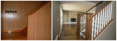 Covering Wood Paneling by Before And After Yourspaceourdesign