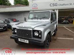 silver land rover discovery used silver land rover defender for sale buckinghamshire