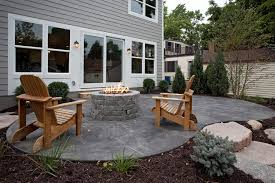 Grey Adirondack Chairs Stamped Concrete Ideas Patio Traditional With Adirondack Chairs