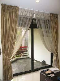 window treatment living room cream colored sofa brown persian rug