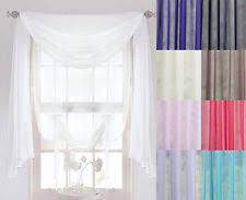 voile scarf curtains u0026 pelmets ebay