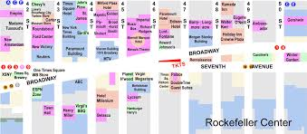 tourist map of new york map of times square map