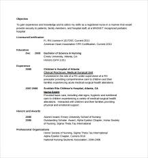 Sample Of Cna Resume by Sample Nurse Resume 10 Download Free Documents In Word Pdf