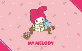 kawaii halloween wallpaper my melody u0026 koala pink wallpaper my melody is sitting with a