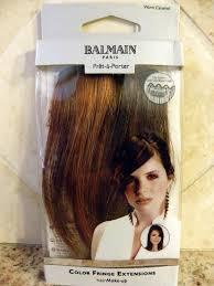 balmain hair extensions new balmain color fringe hair extensions 5 9 memory hair