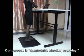 Mat For Standing Desk by Standing Desk Mat Youtube