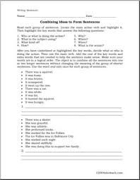 worksheet writing complex sentences abcteach
