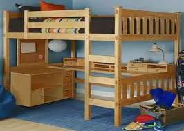 Space Loft Bed With Desk Bedroom Alluring Both Beds Are Elevated Like A Loft Bed Offering