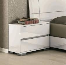 contemporary white bedside tables modern night stand modern white