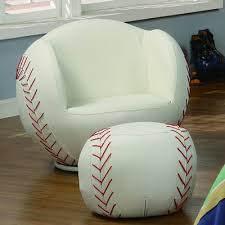 baseball chair and ottoman set crown mark kids seating at high point furniture