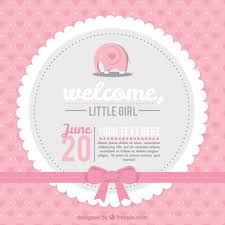 pink baby shower pink baby shower card vector free