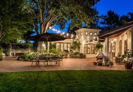 How To Set Up Landscape Lighting 20 Beautiful Outdoor String Lights Set Up Home Design Lover
