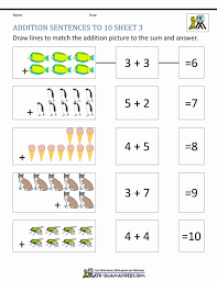 addition worksheet kindergarten koogra