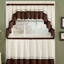 curtain ideas for kitchen modern classic kitchen curtain ideas with pale white and brown