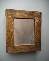 Handmade Bathroom Cabinets - handcrafted bathroom cabinet in reclaimed wood with door mirror