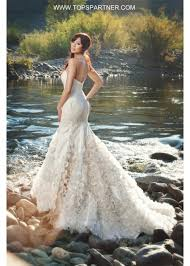 stunning strapless sweetheart mermaid fit flaire cascading organza
