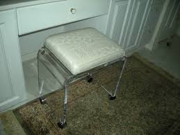 Bathroom Vanity Benches And Stools Backless White Polished Wrought Iron Bench With Padded Seat And