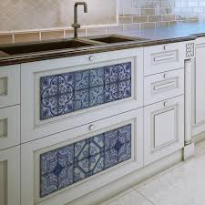 Tile Decals For Kitchen Backsplash Moroccan Bule Tiles Stickers Ameur Pack Of 16 Tiles Tile