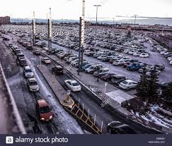 shopping center parking lot at time at yorkdale